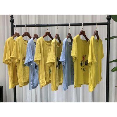 夏句短袖 品牌女装折扣批发 库存尾货货源批发 多种款式