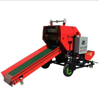 牛场青储打捆机 拖拉机带麦草打捆机 自动缠膜的打包机