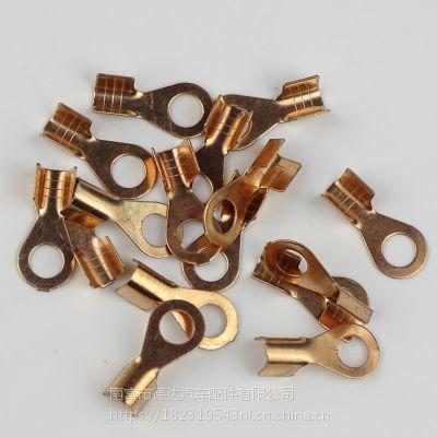 纯铜汽车蓄电池电瓶耳连接夹线 蓄电池电瓶卡子 铜线