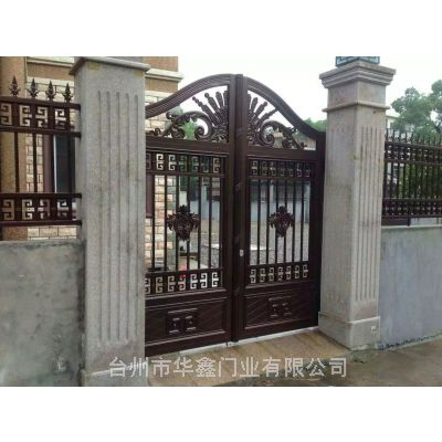 厂家直销欧式别墅庭院大门 小区户外栏杆 电动平移双开门定制