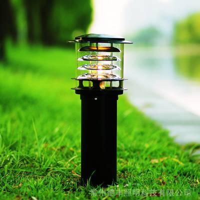 草坪灯太阳能庭院灯花园灯草帽草地灯led小区路灯户外防水室外铝