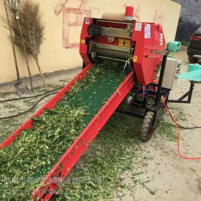 青贮牛羊饲料液压打包机 全自动谷草麦秸秆粉碎打捆机