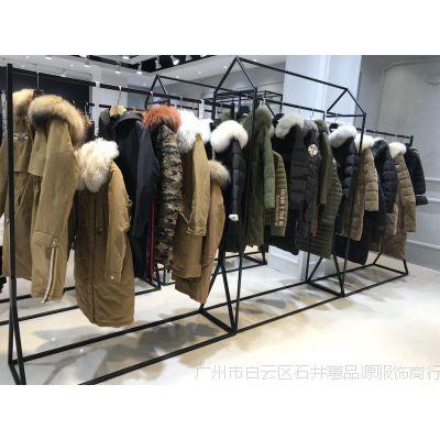 正品大衣外套浅蓝色阿尔巴卡名品折扣女装货源市场