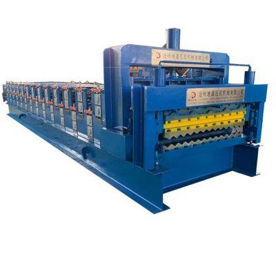 地鑫压瓦机械厂生产一机两用双层压瓦机 820/836仿古琉璃瓦压型机器