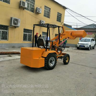 原产地供应建筑工地电动小铲车 液压升降装载机 电瓶铲运车