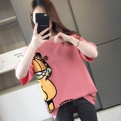 2019便宜韩版短袖t恤打底衫 地摊货源新款时尚女装特卖场夜市热卖T批发