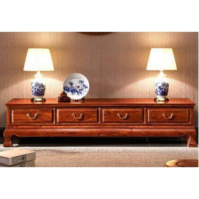 比绍刺猬紫檀红木家具电视柜款式 名琢世家品牌