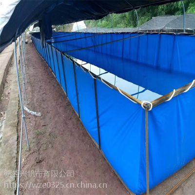 帆布池锦鲤鱼池加厚 折叠鱼池帆布水池