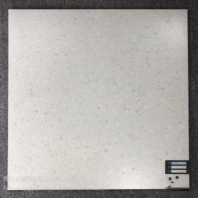600x600仿水磨石瓷砖哑光地砖 600*600浅色水磨石地板砖耐磨仿古砖