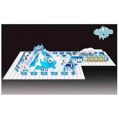 广州商场火爆项目冰雪仿真雪暑期档滑雪大滑梯百万球场升级版室内乐园