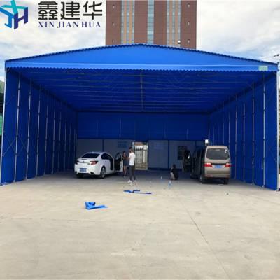 昆山陆家镇大型移动式雨棚布 户外遮阳棚厂家 推拉遮阳仓库篷量身定制