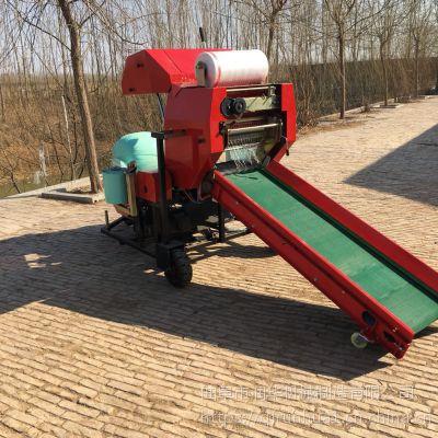 农场牧草打包机 自动切膜的打捆机 全自动稻草打捆机