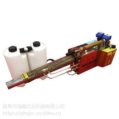 脉冲式水雾烟雾机 双管水冷水雾机 果园专用烟雾机视频