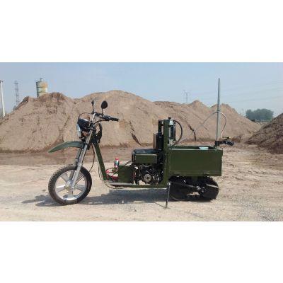 2019年中国农机博览会一亩田就是好履带式摩托车供应、资讯等半履带摩托车打药机可以在狭窄的道路上使用