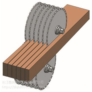 福建方木多片锯结构 方木多片锯视频