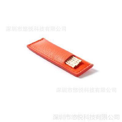 手工定制车缝油边 小巧便携 实用方便 皮质牙签盒 牙签袋