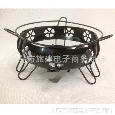 厨房酒店小火锅酒精炉户外野营干锅便携款铁艺炉带调火