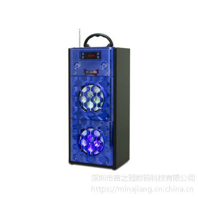 外贸Musiccrown爆款私模高品质音箱2018工厂批发便携式无线FM蓝牙音箱