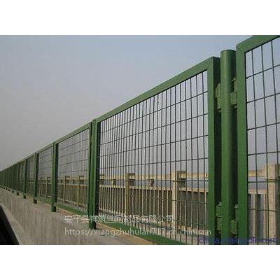 桥梁防抛网铁网围栏桥梁防护网绿色铁丝网厂家包邮