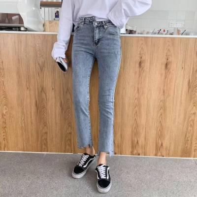 韩版牛仔裤清仓几元小脚裤摆地摊便宜牛仔裤厂家批发
