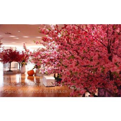 仿真树,仿真桃花树制作,西安假树制作公司-西安金森造景