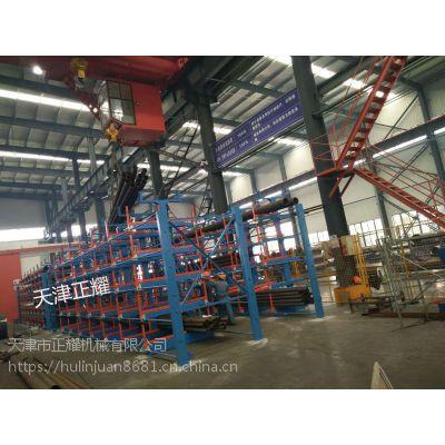 山西煤炭行业管材杂乱占地大使用伸缩悬臂式货架省空间好存取