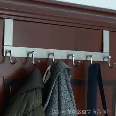 不锈钢免钉门后挂钩挂架创意卧室门背式门上挂衣钩衣服衣帽挂衣架