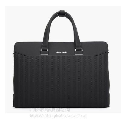 西尚 XS-WT5020 皮尔卡丹真皮商务手提包镂空条纹时尚电脑公文包