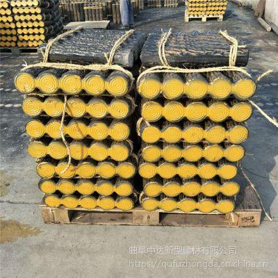 仿木水泥树桩石 草坪护栏 新型混凝土连木桩路沿石 菏泽厂家直销