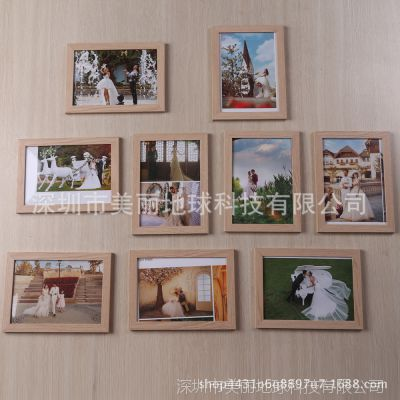 厂家直销7寸九宫格照片墙影楼礼品组合相片墙相框批发