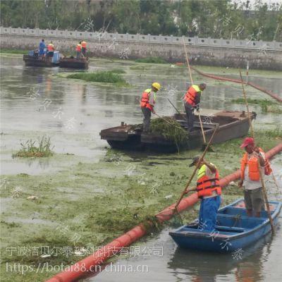河道拦污网配套塑料拦污漂排专治漂浮物装置