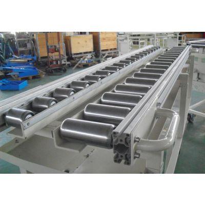 轮胎辊筒转弯输送机铝型材 本溪线和转弯滚筒线