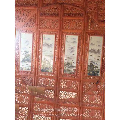 手绘瓷板画 景德镇 名家定制3米瓷板画厂家