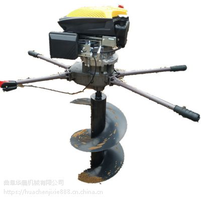 新款立柱埋桩机 汽油打洞机 植树挖坑机价格