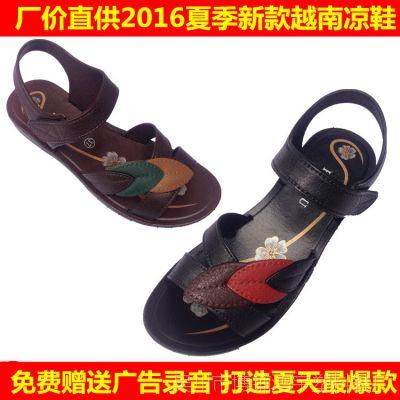 女凉鞋2016夏季新款女凉鞋复古越南高跟女凉鞋地摊热卖女凉鞋批发