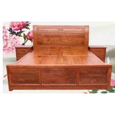 供应红木家具卧室家具2米双人床 名琢世家