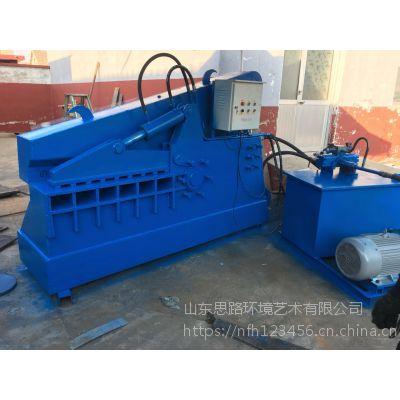 山东思路供应多型号液压剪切机 钢带角钢160吨鳄鱼剪切机 鳄鱼剪工作视频