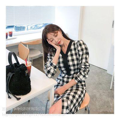 莫兹北京市尾货批发市场 想加盟女装品牌折扣店尾货粉色休闲套装
