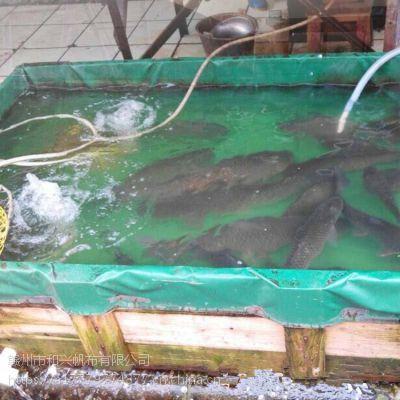 篷布水池支架帆布水池安装尺寸 pvc涂塑布移动鱼池图片