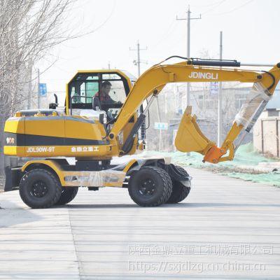中国轮胎式挖掘机 金鼎立轮式抓木机报价