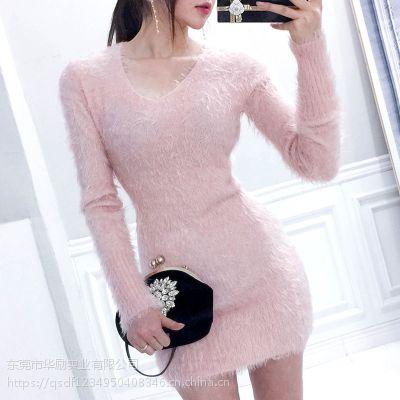 蜂后国际阿里巴巴尾货折扣女装 广州石井服装尾货批发黑色雪纺衫