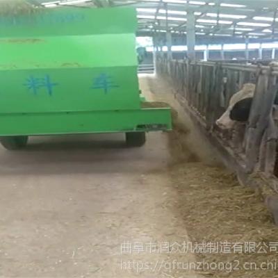 动物园喂食撒料机 牛羊草料投料车 润众
