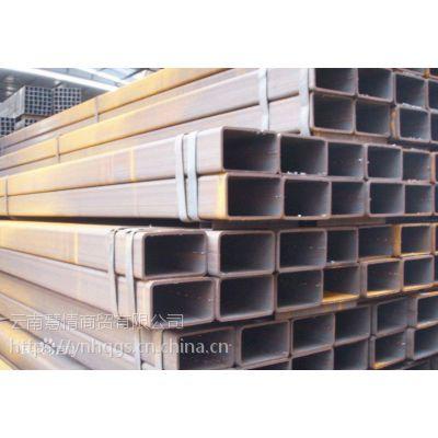 云南供应Q235B方管 建筑钢材方钢管 矩形