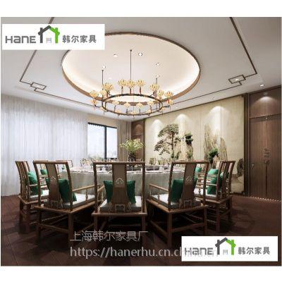 中式湘菜风格餐厅桌椅组合 爱上饭餐厅餐桌椅 韩尔品牌工厂