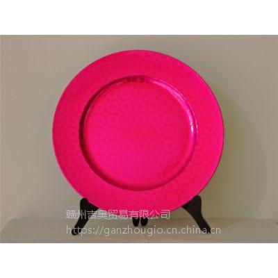 赣州创意塑料盘铜钱盘装饰节日用品YF-60589