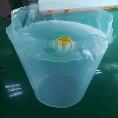 厂家供应带阀门的圆底袋 涂料桶内衬袋 带盖子的圆底袋