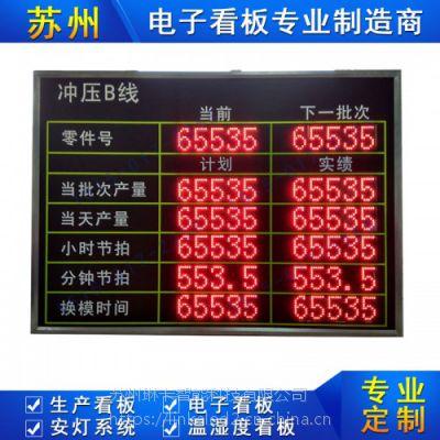 苏州琳卡生产线电子看板设备运行产量稼动率节拍计数器看板