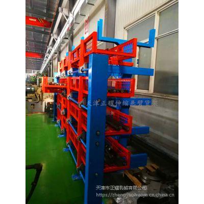 广东6米型材货架规格 伸缩悬臂货架价格表 行车配套 无需叉车