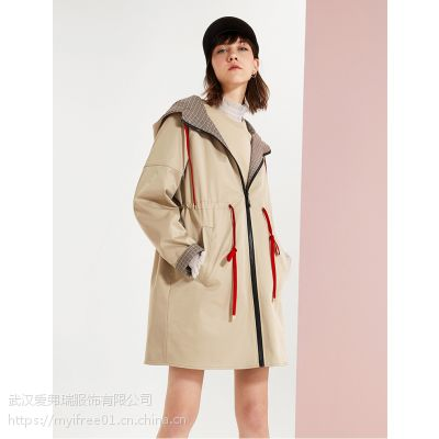 高档服装进货渠道【现货】巧帛女风衣外套