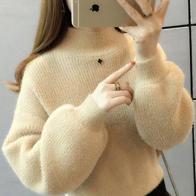 批发厂家直批微信号冬季服装批发一手货源批发圆领女装毛衣货源批发